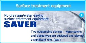 No drainage/water-saving surface treatment equipment
