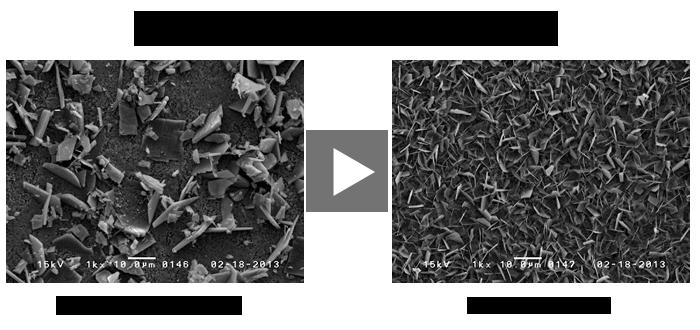 黒皮鋼板のリン酸亜鉛皮膜比較